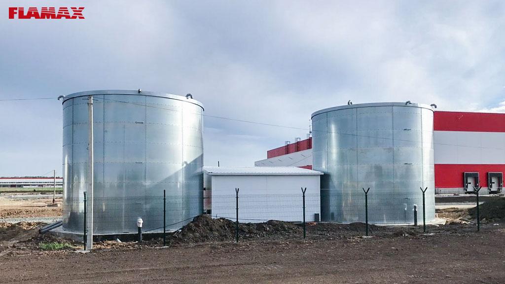 Два пожарных резервуара FLAMAX для нового распределительного центра  X5 RETAIL в Новосибирске